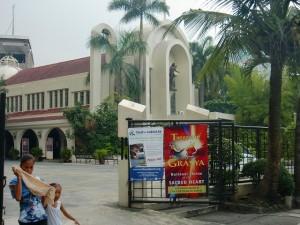 結婚式が執り行われる教会の外観
