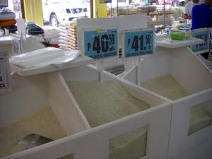 米どころの田舎でも米の値段は1キロ、40ペソを越えた