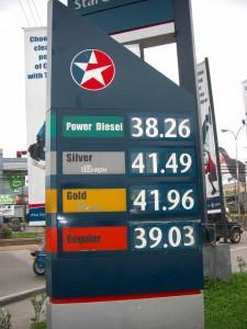 ガソリン代の値段はタクシーの生命線だ